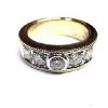 18金とプラチナを使ってダイヤモンドの指輪にリフォームしました。