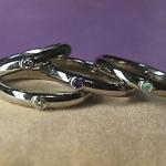 ご家族の誕生石を使って指輪をオーダーメイドしました。