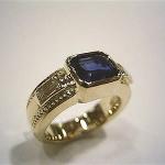 サファイヤの指輪をリフォームしました。