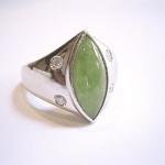 翡翠の指輪をリフォームしました。