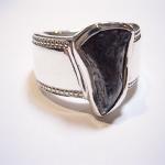 隕石を使ってシルバーの指輪をオーダーメイドしました。