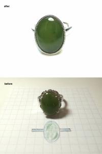 翡翠指輪リフォーム
