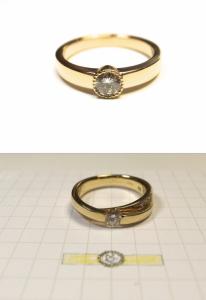ダイヤモンド指輪リフォーム