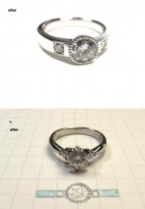 たて爪指輪リフォーム0901